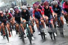 SAN SEBASTIAN, SPAIN - JULY 31: Ane Santesteban Gonzalez of Spain and Team BikeExchange & Kathrin Hammes of Germany and Ceratizit ? WNT Pro Cycling Team lead The Peloton during the 3rd Donostia San Sebastian Klasikoa Women 2021 a 139,8km race from Donostia-San Sebastian to Donostia-San Sebastian / #Klasikoa / #KlasikoaWomen / #UCIWWT / on July 31, 2021 in San Sebastian, Spain. (Photo by Gonzalo Arroyo Moreno/Getty Images)